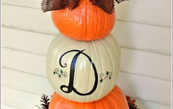 pumpkin topiary fall decorating ideas, container gardening, crafts, gardening, seasonal holiday decor, Fall Decorating Ideas