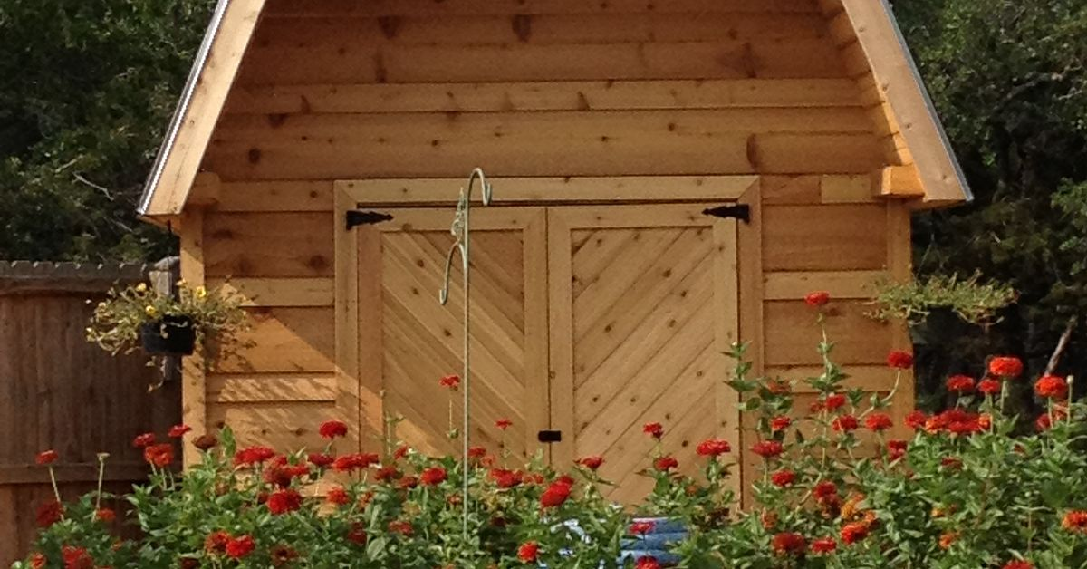 Cedar Barn Flower Garden Hometalk