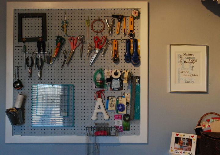 Pegboard organization for my tools.