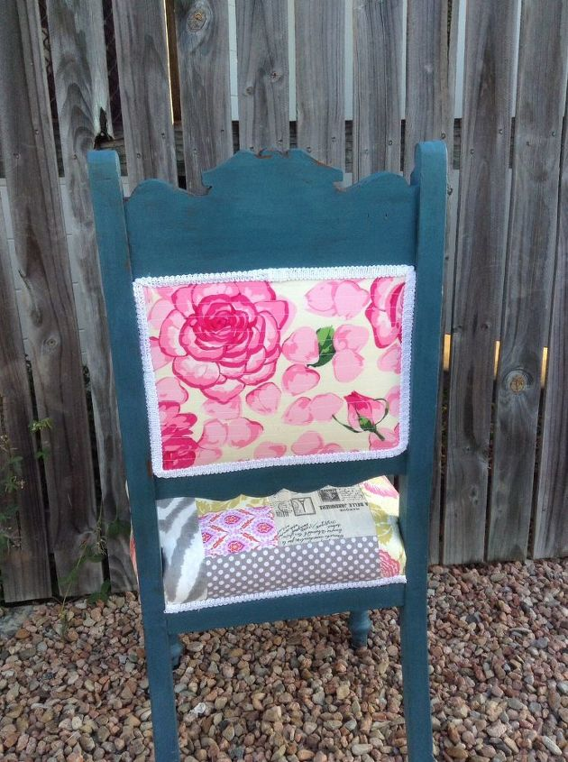 chair quilted patchwork upholstery antique revamp, reupholster