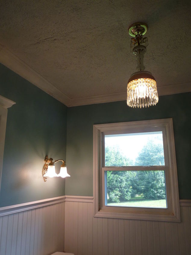 q window treatment affordable ideas, window treatments, windows, This is my bathroom The 2nd story window looks out over our large private yard Given the height and location no one could actually look in so privacy isn t really an issue