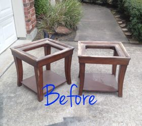 end coffee table makeover upholstered makeover painted furniture repurposing upcycling reupholster Before & End Tables \u0026 Coffee Table Makeover | Hometalk