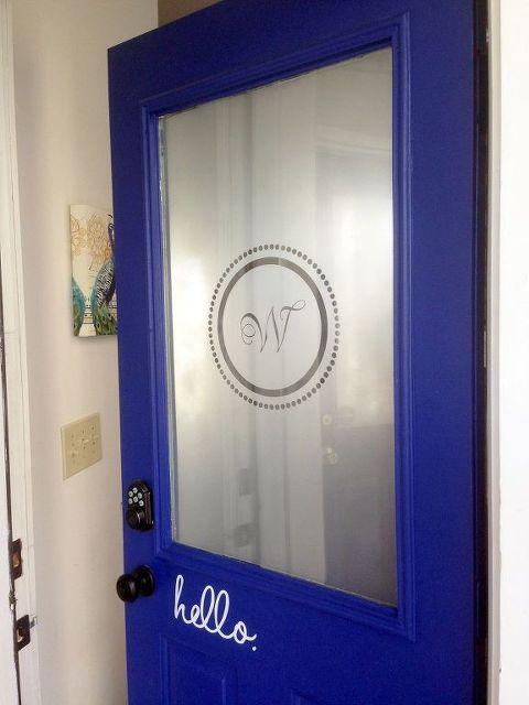 Front Door Makeover Stencil Blue Budget Diy Doors