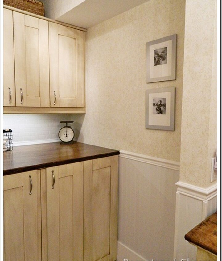 Concealed Laundry machines with Ikea doors that were painted and glazed