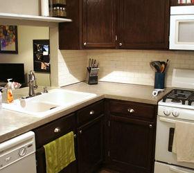 Kitchen Makeover Concrete Countertop, Concrete Masonry, Countertops, Diy,  Kitchen Cabinets, Kitchen