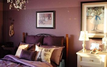 Posh Purple Bedroom Makeover
