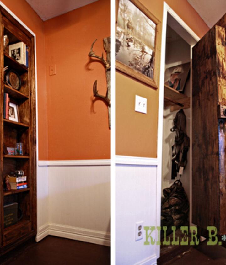 The door is installed on the original closet hinges