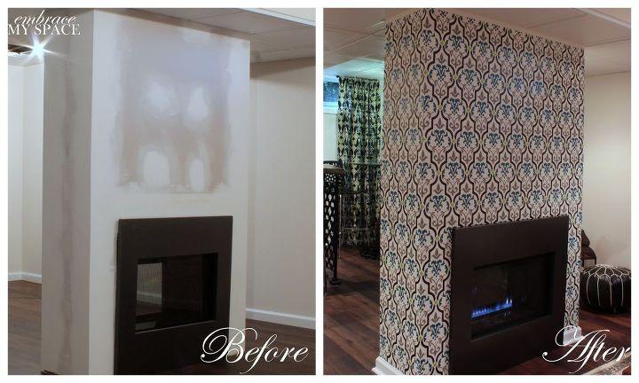 basement makeover moroccan inspired, basement ideas, entertainment rec rooms, home improvement, wall decor