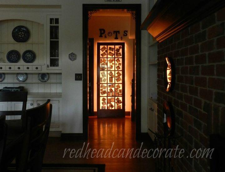 how to make an illuminated photo door, crafts, home decor, lighting