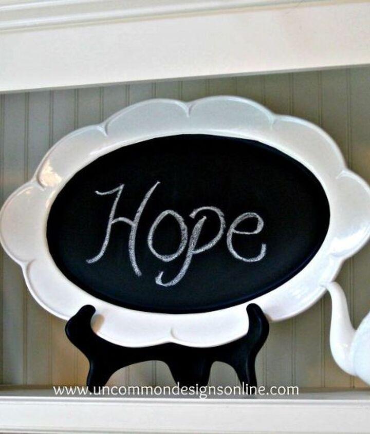 Adorable Chalkboard Platter!