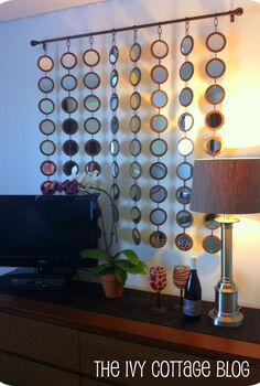 diy z gallerie mirror knock off, crafts, home decor, Finished product hanging on the wall