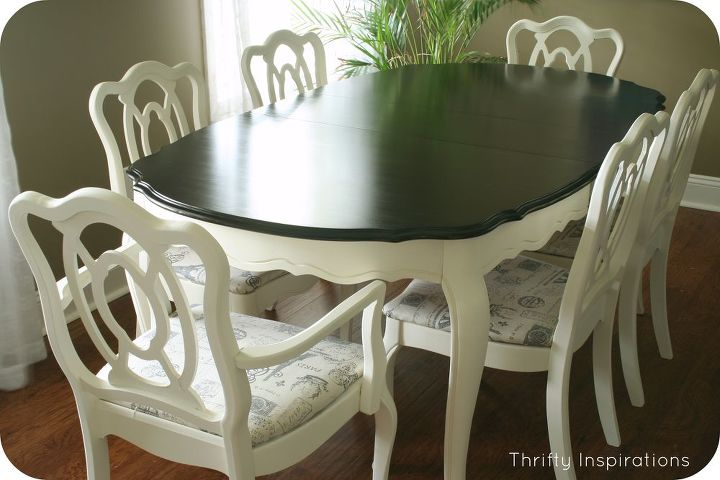 French Provincial Table Set Makeover Chalk Paint Home Decor Living Room Ideas