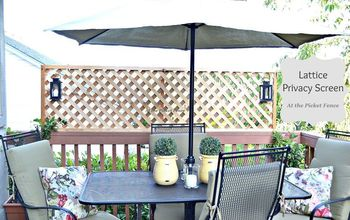 How to Add Privacy to a Deck~ Wood Lattice Screen!