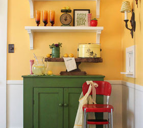 Diy Shelves Add Fun And Color To A Dining Room, Home Decor, Shelving Ideas