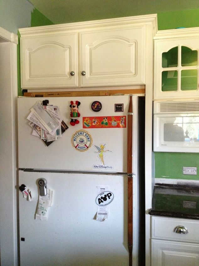 Old Refrigerator Gets New Look With Wallpaper Hometalk
