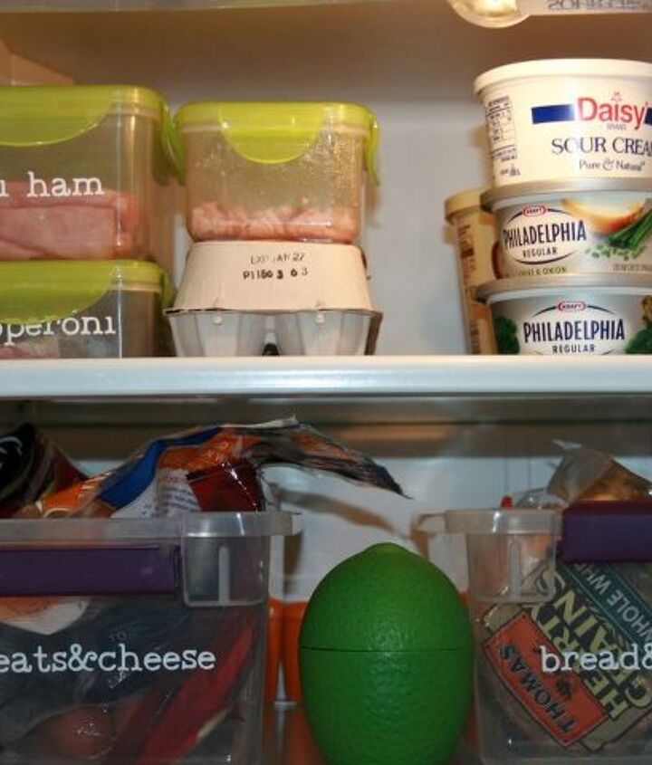 organize your refrigerator, organizing, storage ideas, Use smaller containers that lock to keep lunchmeat fresh