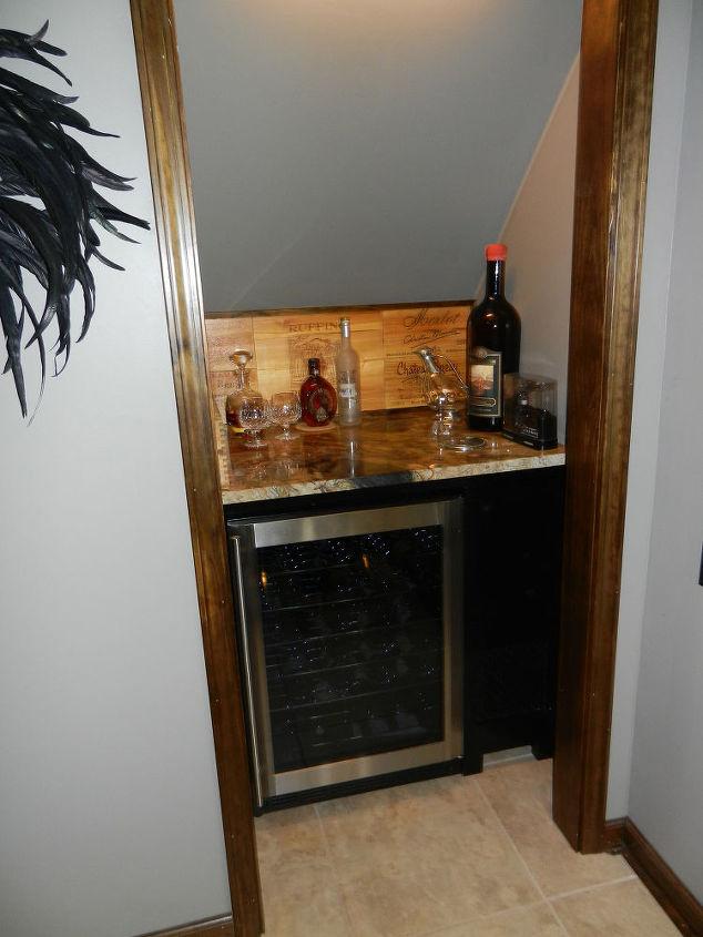 garage remodel wine closet, diy, doors, Wine closet