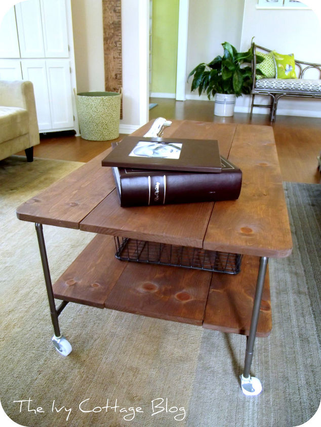restoration hardware coffee table knock off, diy, painted furniture, woodworking projects, The final product