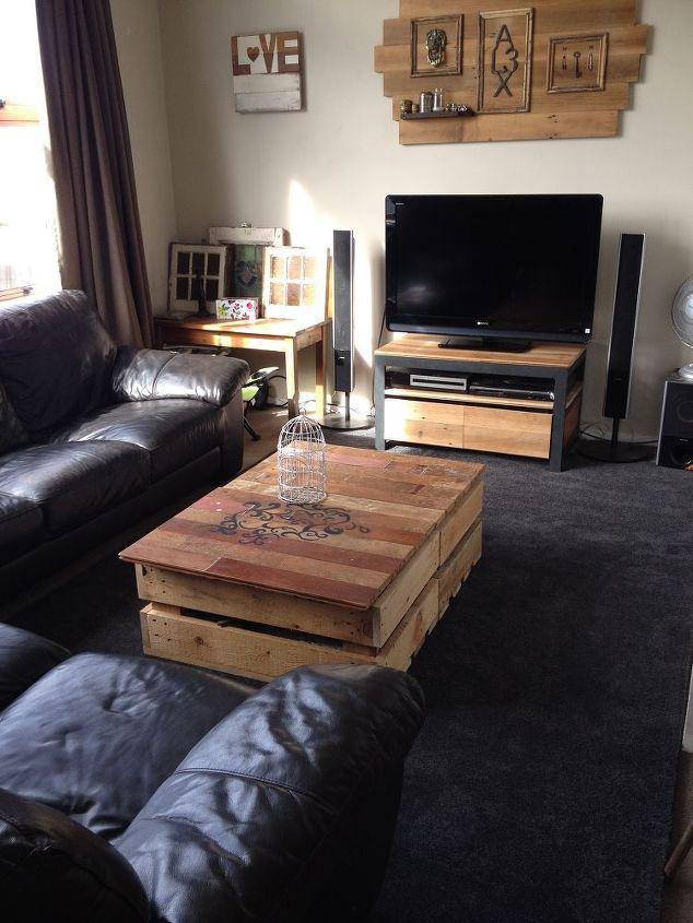 DIY Modern Rustic Inspired Living Room | Hometalk