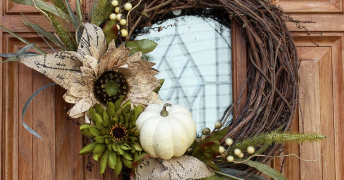 New Fall Wreath For Chic Front Door Hometalk