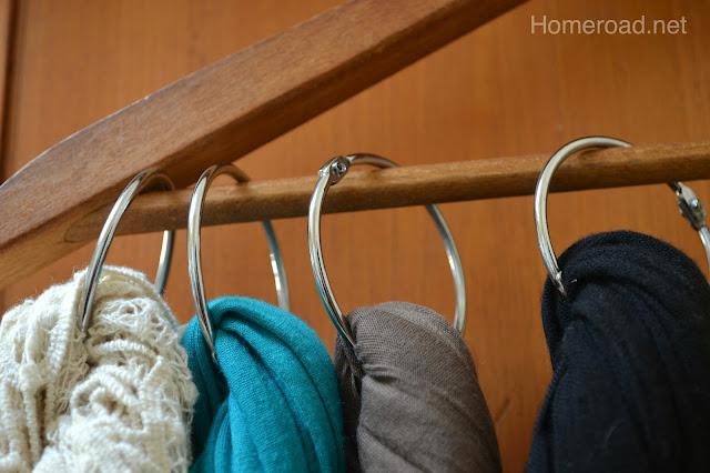 vintage scarf organization, home decor, organizing