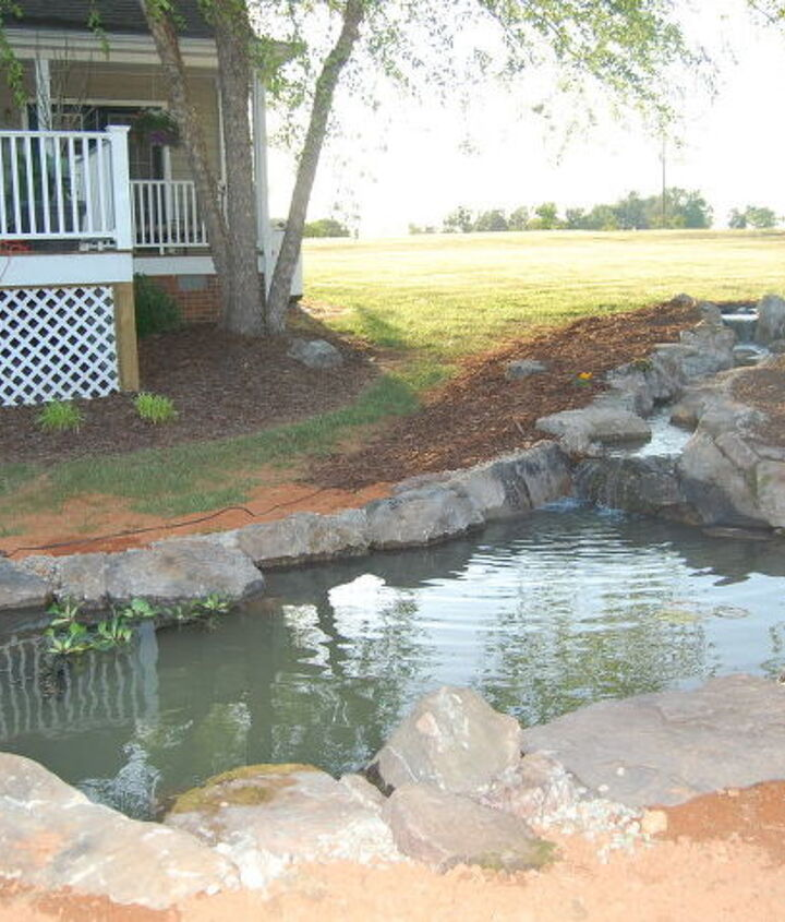 New Aquascape pond installed May 4, 2010 by Pond Professors in Greensboro, NC.