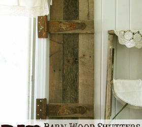 DIY Barn Wood Shutters From Pallets Hometalk