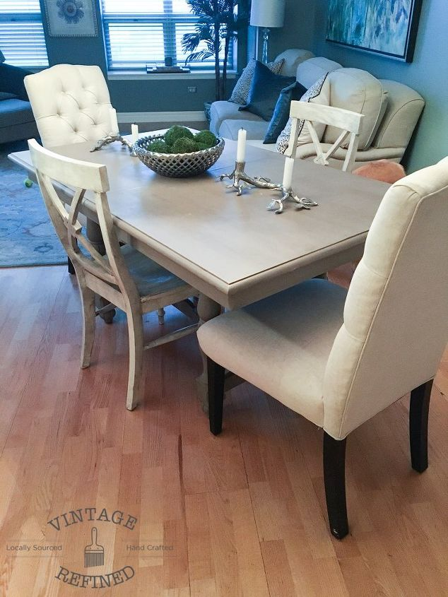 dining room update painting dining table chairs, dining room ideas, painted furniture, reupholster