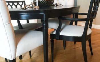 Dining Room Update - Painting Dining Table & Chairs