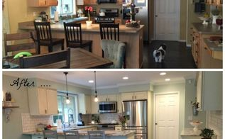 farmhouse kitchen makeover, home decor, kitchen design, painting, painting cabinets