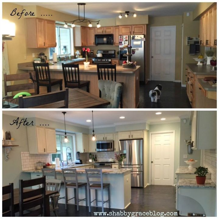 Kitchen Cabinet Makeover Ideas Paint: Farmhouse Kitchen Makeover