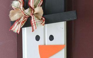 scrap wood door decor snowman, crafts, how to, seasonal holiday decor