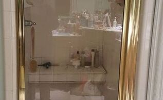 q can i paint my gold tone shower door metal, interior home painting, painting