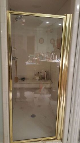 Can I Paint My Gold Tone Shower Door Metal Hometalk