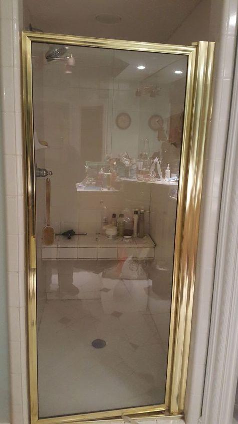 Can I Paint My Gold Tone Shower Door Metal Hometalk