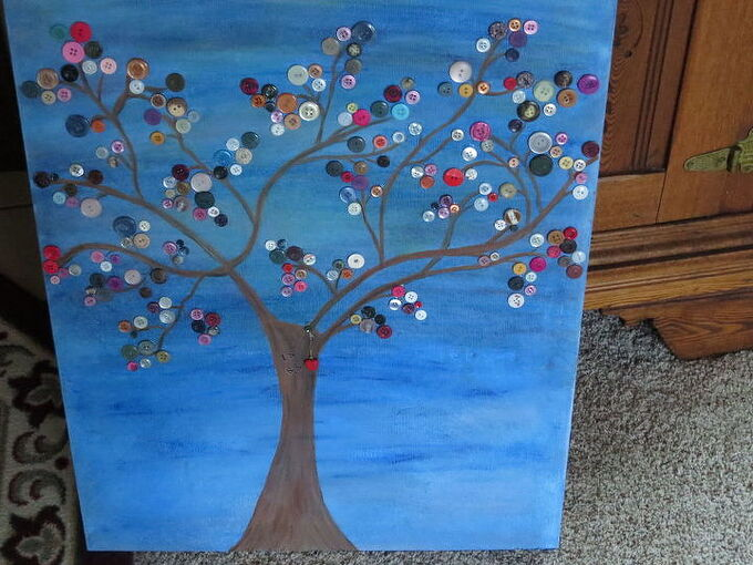 button love tree, crafts, wall decor