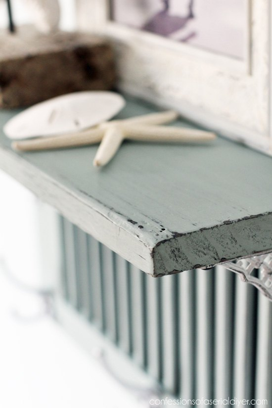 shutter shelf, chalk paint, repurposing upcycling, shelving ideas