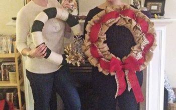 My Yarn Wrapped Glitter Winter Wreath