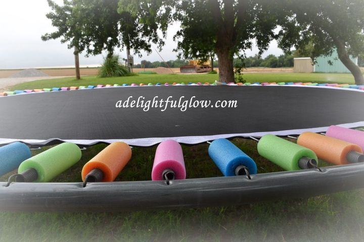 Covering Trampoline Springs With Pool Noodles How To Outdoor Furniture Living