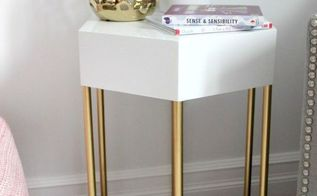 diy hexagon side table, diy, how to, painted furniture, woodworking projects