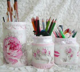 Diy Shabby Chic Desk Organization, Crafts, Organizing, Shabby Chic, Storage  Ideas
