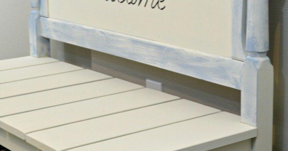 Headboard Bench With Storage Diy Twin Headboard Bench With Storage Hometalk