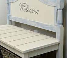 diy twin headboard bench with storage, outdoor furniture, repurposing upcycling, storage ideas, woodworking projects