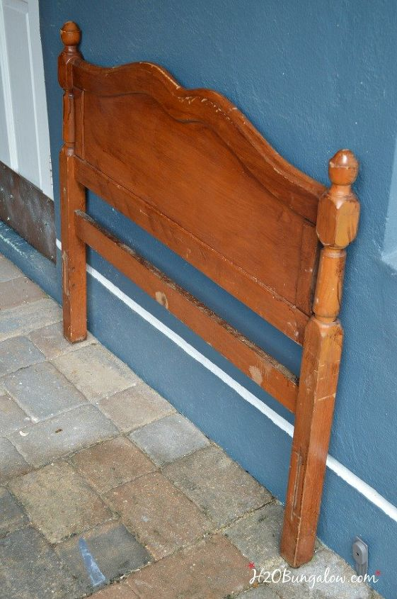Diy Twin Headboard Bench With Storage Outdoor Furniture Repurposing Upcycling Ideas