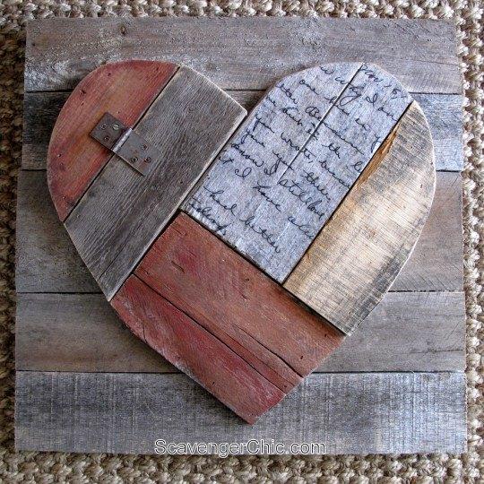 Rustic Pallet Wood Valentines Heart Hometalk
