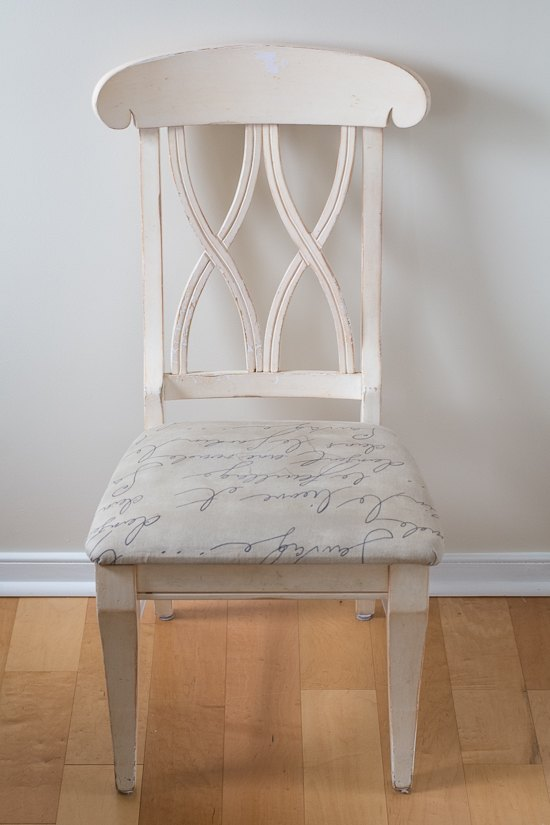 How To Reupholster A Chair Cushion A Chair Makeover