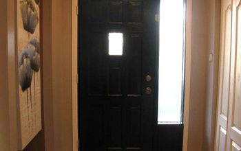 I Painted the INSIDE of My Front Door BLACK While Hubby Was Out