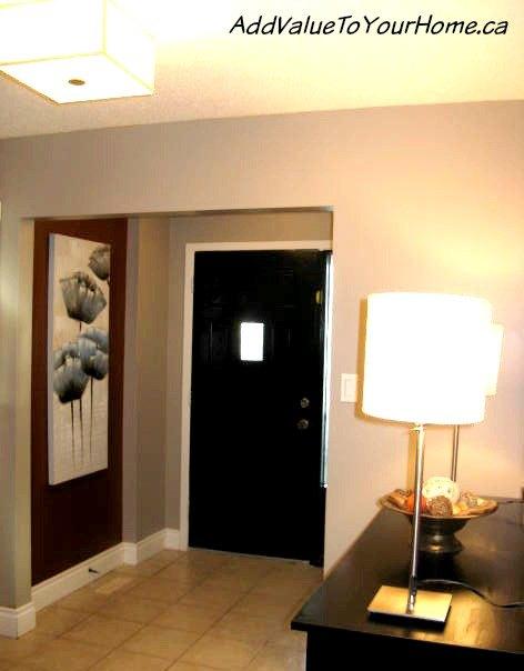 painting the inside of my front door black, doors, painting