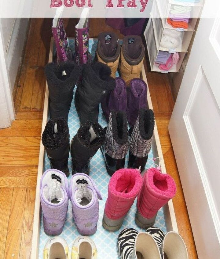 s 16 brilliant ways to squeeze much more into your closet, closet, organizing, storage ideas, Make roll out shoe storage for deep closets