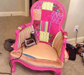 Diy Upholstery Chair First Time, How To, Painted Furniture, Reupholster